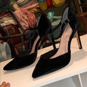 Avec Les Fillles velvet heels booties boots shoes